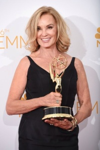 Jessica Lange avec son Emmy Award.