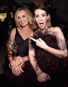 Jessica Lange et Sarah Paulson à l'after party des Emmy Awards 2014.