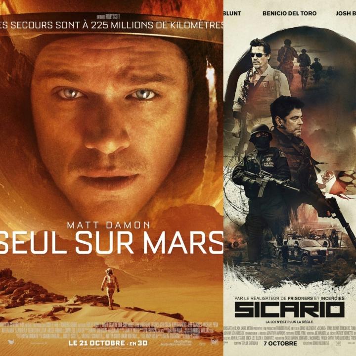 Le décevant Seul sur Mars et l'étonnant Sicario