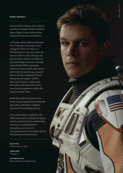 Matt Damon, interprétant Mark Watney