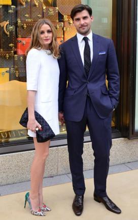 Le couple est chic pour l'ouverture du magasin Louis Vuitton en Allemagne, 2014.